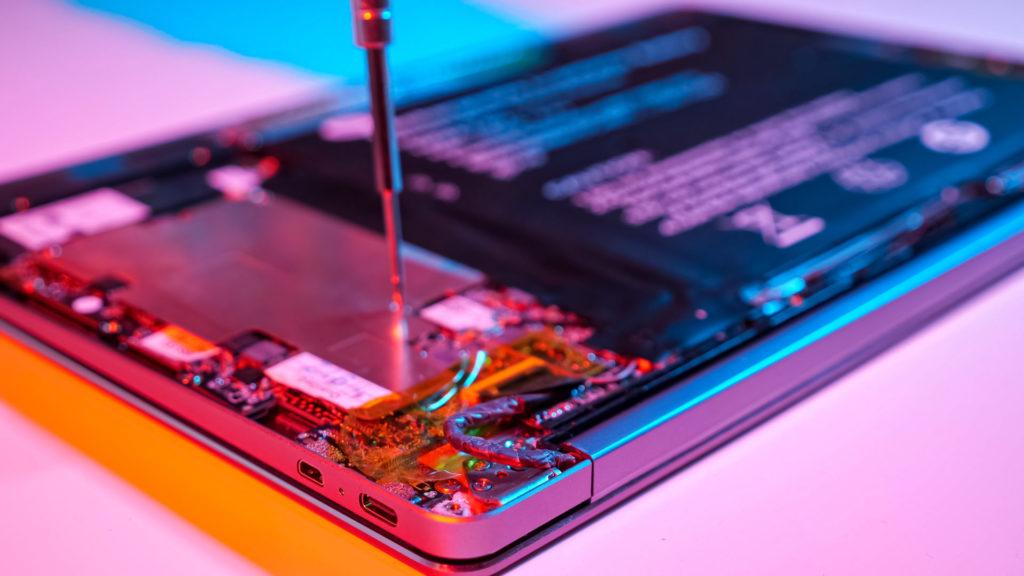 taking apart laptop